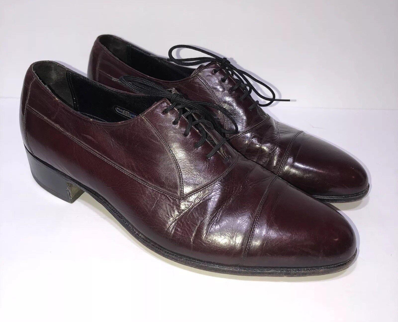 Florsheim Burgundy Cap Toe Oxford Leather new shoes shoes 305011 Men's Size US 9D