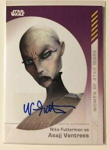 Details about Topps On Demand Women of Star Wars NIKA FUTTERMAN/ASAJJ  VENTRESS Autograph/Auto