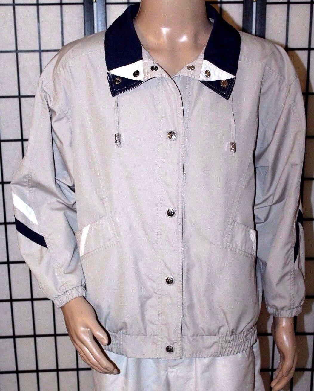 VINTAGE CS CURRENT SEEN Men's Large Reversible Windbreaker Raincoat EUC