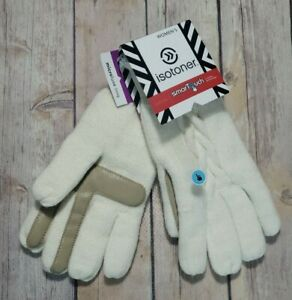 Isotoner-Womens-Gloves-Smart-Touch-Ivory-Knit-Smartouch-Tech-Texting-NEW