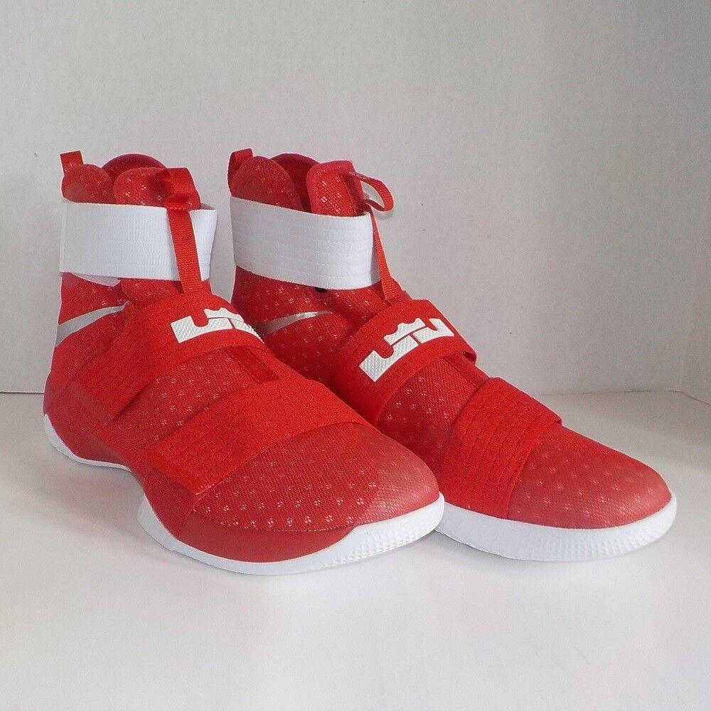 276af45ef7c Nike Lebron James Soldier X TB Promo Basketball Shoes Red 856489 663 ...