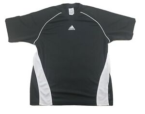 Details about Adidas Youth Soccer Jersey Size Large Black White #6 Athletic Futbol
