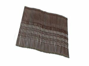 36-Brown-Hair-Grips-Kirby-Grips-Hair-Slides-Clips-Bobby-Pins-4-5cm