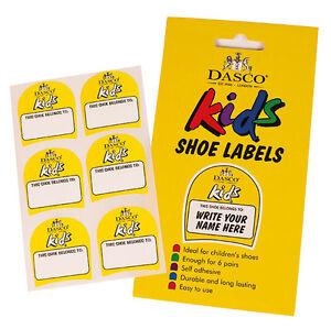 Dasco Kinderschuh Etiketten - Einheitsgröße