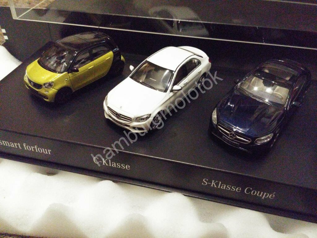 Mercedes set 1 43 2014 schuco kyosho norev W453 W205 C217 X156 smart gla s c