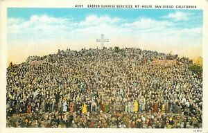 DB-Postcard-CA-D217-Easter-Sunrise-Services-Mt-Helix-San-Diego-California