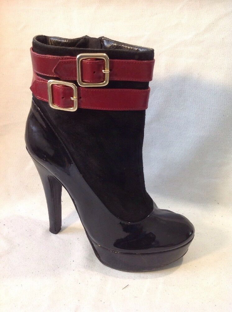 Cheryl Cole Black Ankle Leather Boots Size 37