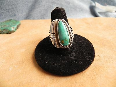 Turquoise & Sterling Silver Ring size 9 1/2 by Wayne Etsitty Navajo