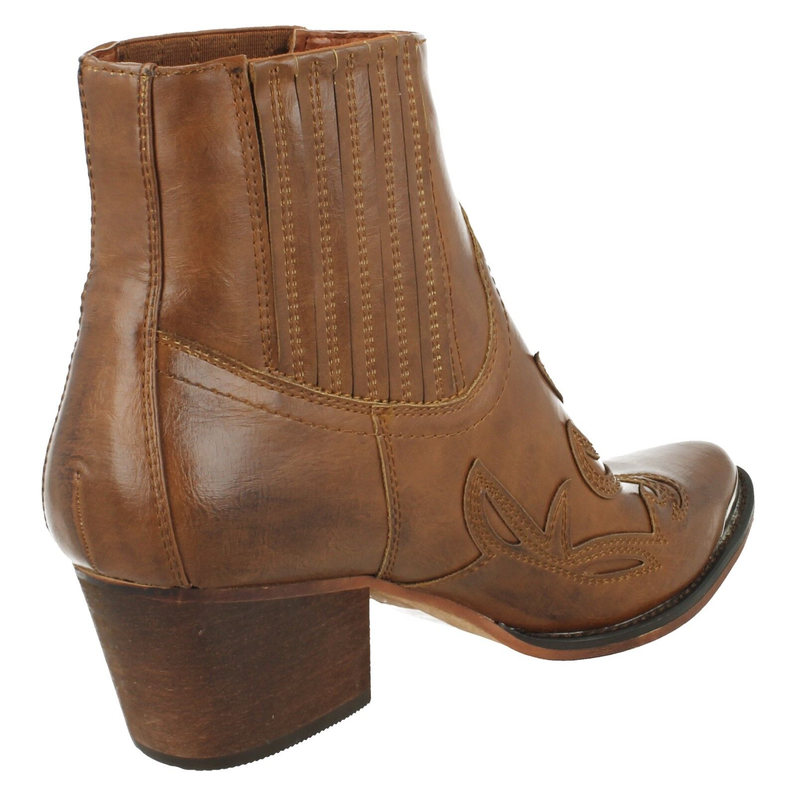 LADIES WINTER ANKLE Stiefel MID PULL ON POINTED TOE MID Stiefel HEEL DOWN TO EARTH F5R0940 da8125