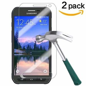 2-Pack-9H-CLEAR-TEMPER-GLASS-SCREEN-PROTECTOR-For-SAMSUNG-GALAXY-S6-Active-G890
