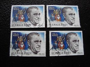 SUEDE-timbre-yvert-et-tellier-n-2052-x4-obl-A29-stamp-sweden-Z