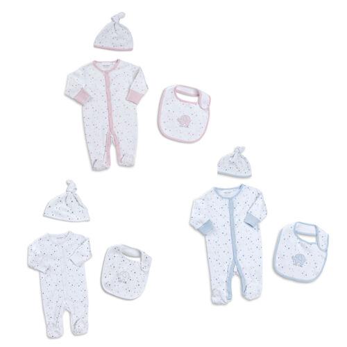 Babytown 3 Piezas Bebé Algodón Pelele Sombrero Y Babero Set