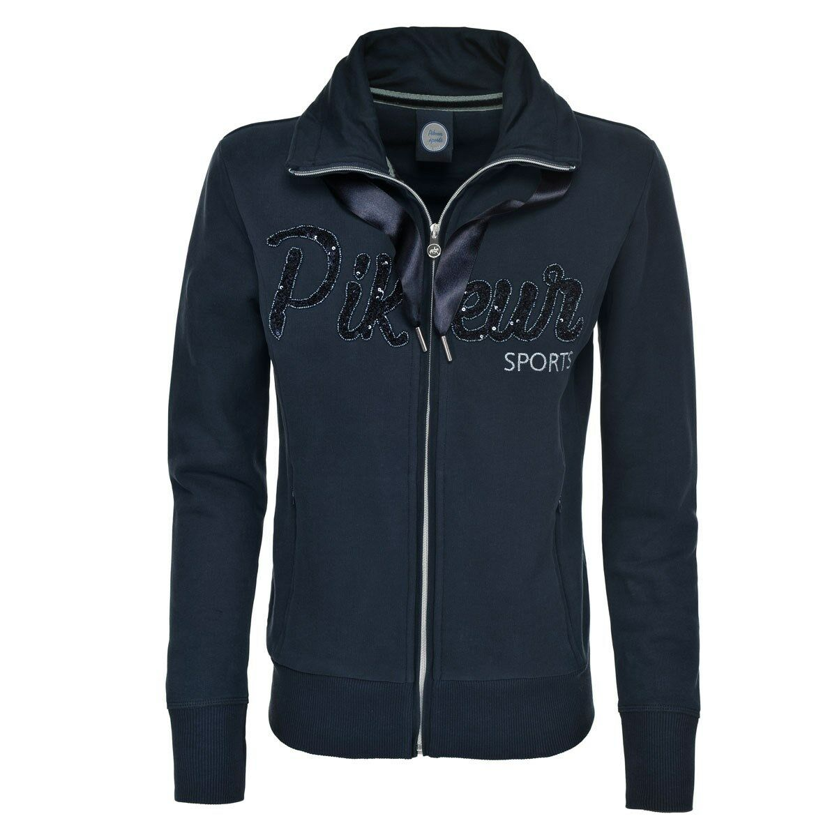 Pikeur Ladies Lisanne Zipped Sweatshirt Navy  38 (size 10)  save on clearance