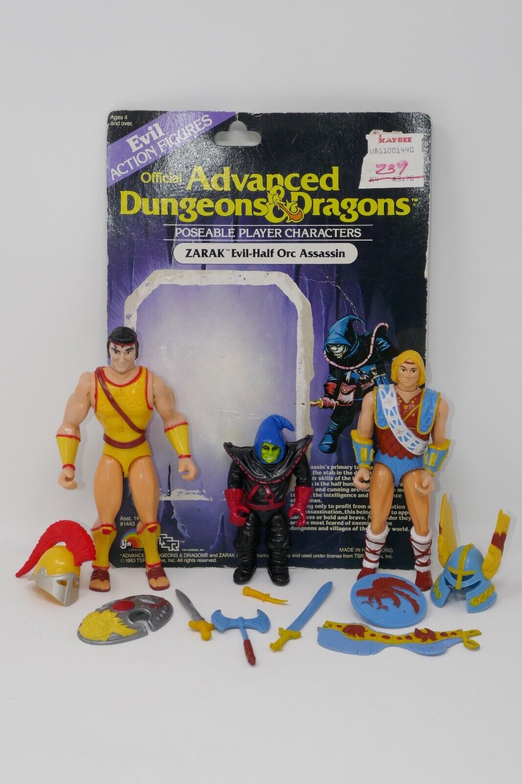 LJN 1983 Advanced Dungeons & Dragons Male Titan Northlord Zarak Action Figures
