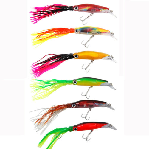25cm 41g Octopus Squid Jig Fishing Lures Skirt Trolling Saltwater Bait Lure Set