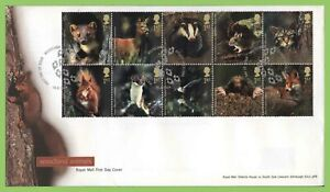 G-B-2004-Woodland-Animals-set-on-Royal-Mail-u-a-First-Day-Cover-Bishop-Auckland