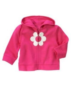 GYMBOREE-SHOWERS-OF-FLOWERS-PINK-w-FLOWER-HOODED-JACKET-2-3-NWT