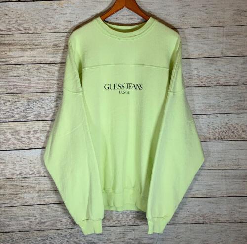 Vtg Guess Jeans USA Classic Script Sweatshirt RARE