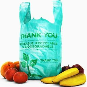 """Bulk Pack 22"""" THANK YOU Plastic T-Shirt Grocery Bags Biodegradable/Recyclable"""