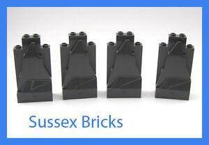 Lego-4x-Dark-Bluish-Grey-Rock-Wall-Panels-47847-Castle-City-Pirates-New-Pieces