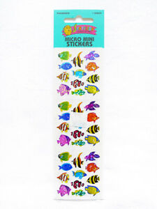 SEALED-VINTAGE-1990s-SANDYLION-Prismatic-Tropical-Fish-Collectible-Stickers-1-Sh