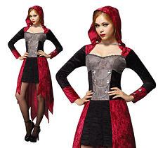 Onorevoli VAMPIRO DEMONE da nubile Costume Halloween Diavolo Costume Vestito UK 10-14