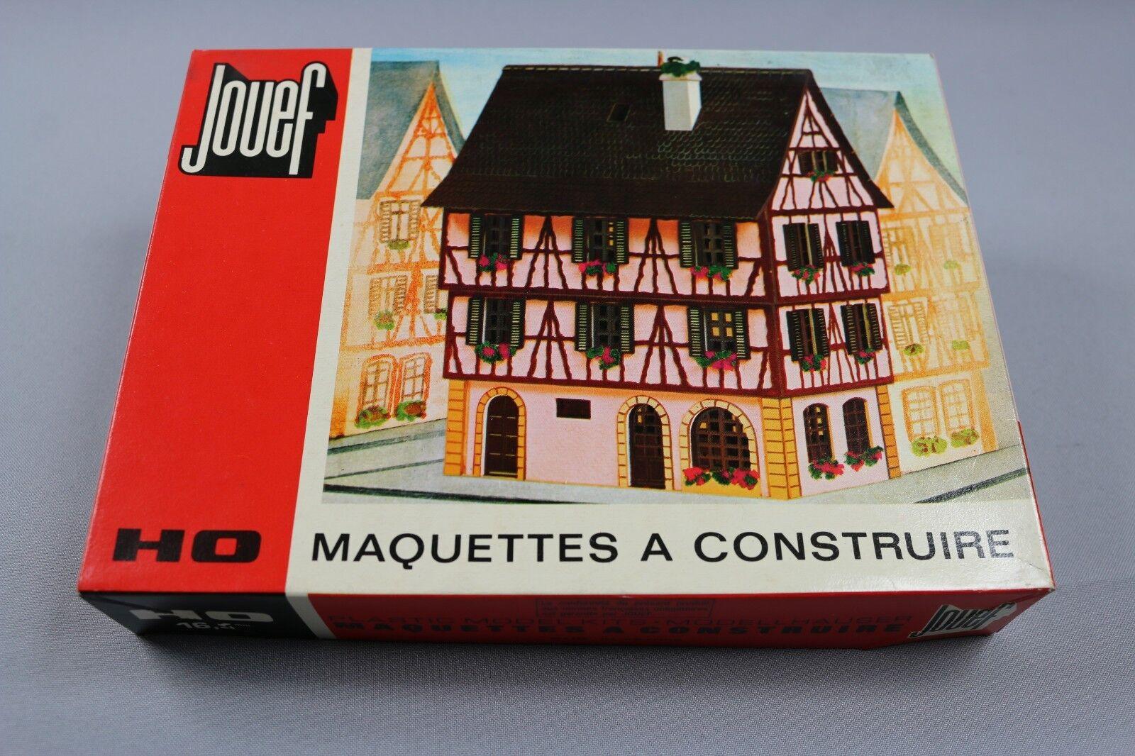 Z197 Jouef 1994 maquette train Ho 1:87 maison alsacienne colomBorsae decor diorama