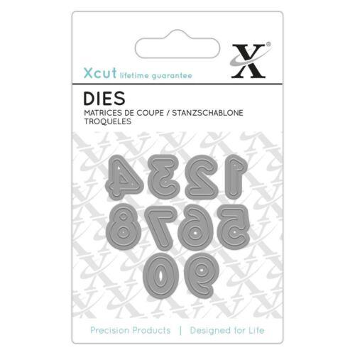 Xcut 10 pièces mini papier carte scrapbook craft métal die docrafts - numéros