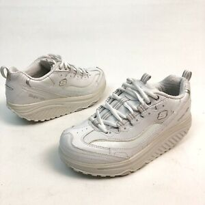 Skechers-Womens-Work-Shape-Ups-White-Leather-Slip-Resistant-Shoes-Sz-7-Eu37