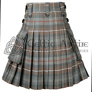 Macdonald Tartan Scottish TARTAN UTILITY KILT for Men 16 Oz Acrylic All Sizes