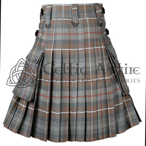 Scottish TARTAN UTILITY KILT for Men Mackenzie Weathered 16 Oz Acrylic All Sizes