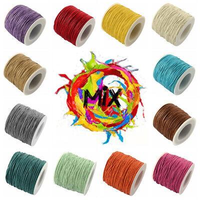 80 bis 90 M Rolle Gewachste Polyester Schnur Kordel Cord Makramee 10 M Ø 1mm