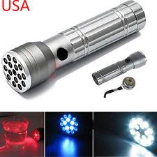 3-in-1 15 LED Flashlight UV Ultra Violet Light & Red Laser Pointer Torch Lamp