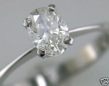 Diamond Solitaire Ring Oval Shape 1ct Certificated D IF VG Platinum Engagement