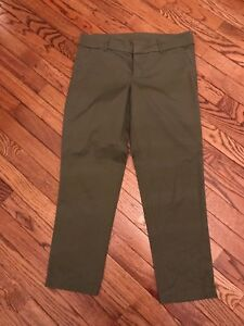 abee6b260f24 Women s Kut from the Kloth Olive Green Capris- Cropped Pants
