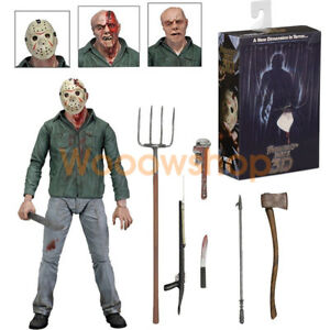 NECA-Friday-The-13th-Part-III-Jason-Voorhees-3D-Ultimate-7-034-Action-Figure-Doll