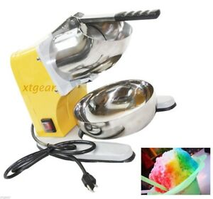 New-Snow-Cone-Maker-Machine-Crusher-Electric-Ice-Shaver-w-Dual-Stainless-Blade