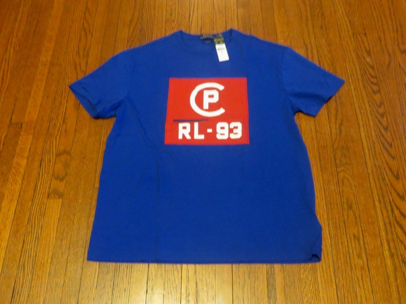 Men's NWT Polo Ralph Lauren CP-93 Big Logo Cruise Royal T-Shirt sz M