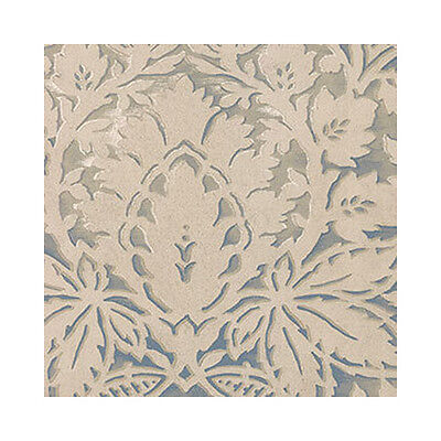 Bold & Dramatic Damask in Cream on Blue Wallpaper Double Roll Bolts