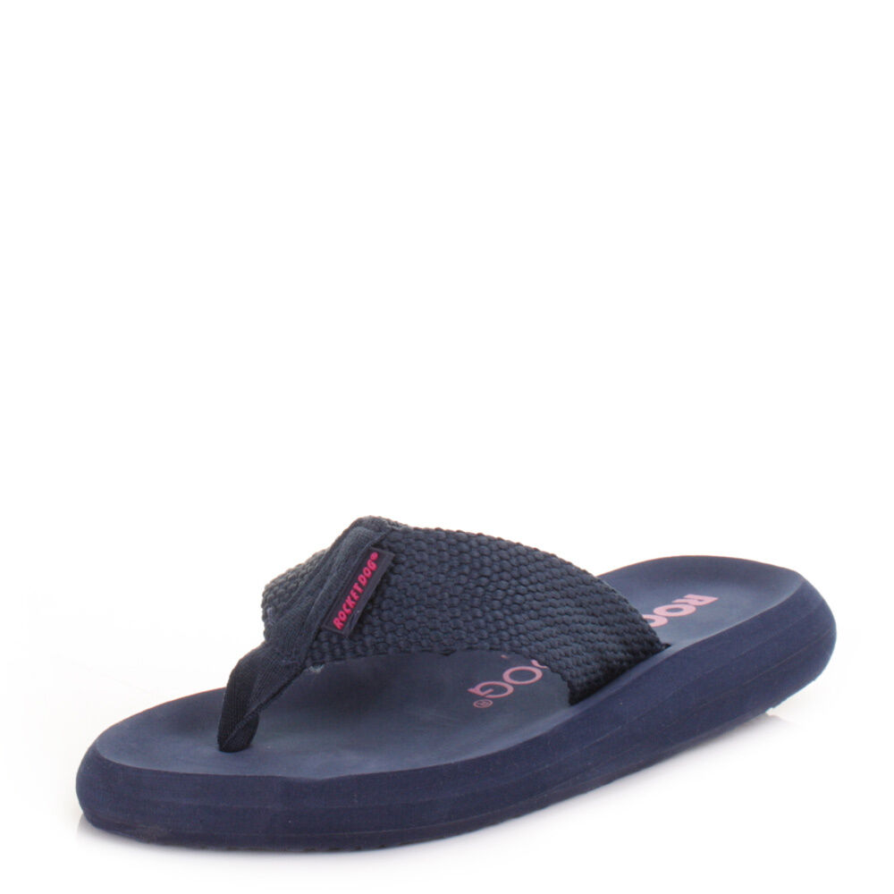 Ipanema Diamond IV Womens Flip Flops / Sandals - Navy Aqua