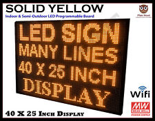40 X 25 Inch Led Yellow Wifi Indoor Semi Outdoor Programmable Scrolling Sign