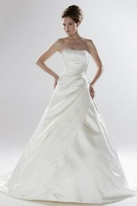 Image Is Loading Ellis Bridal Wedding Dress Clic A Line With