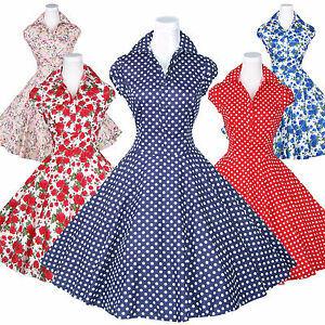 c31cdc4f160 Maggie Tang 50s VTG Retro V Neck Polka Dot Pinup Rockabilly Swing ...