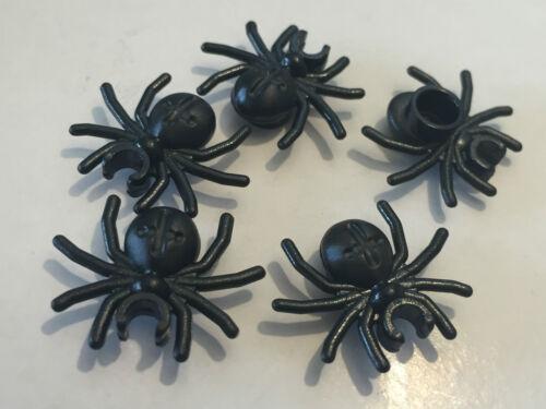 *NEW* 5 Pieces Lego Minifig Animal BLACK SPIDER