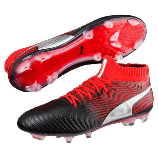 New Puma ONE 18.1 Syn FG Soccer Cleats Men's Size 7 13 BlackRed 104869 01