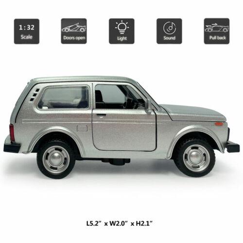 Details about  /1:32 Scale Vintage VAZ Lada Niva Model Car Diecast Gift Toy Vehicle Kids Sound