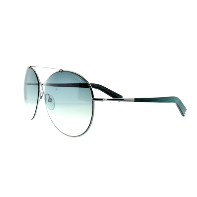 b1d6b7eb019 Tom Ford FT0394 15P Full Rim Silver with black arms Round Women Sunglasses