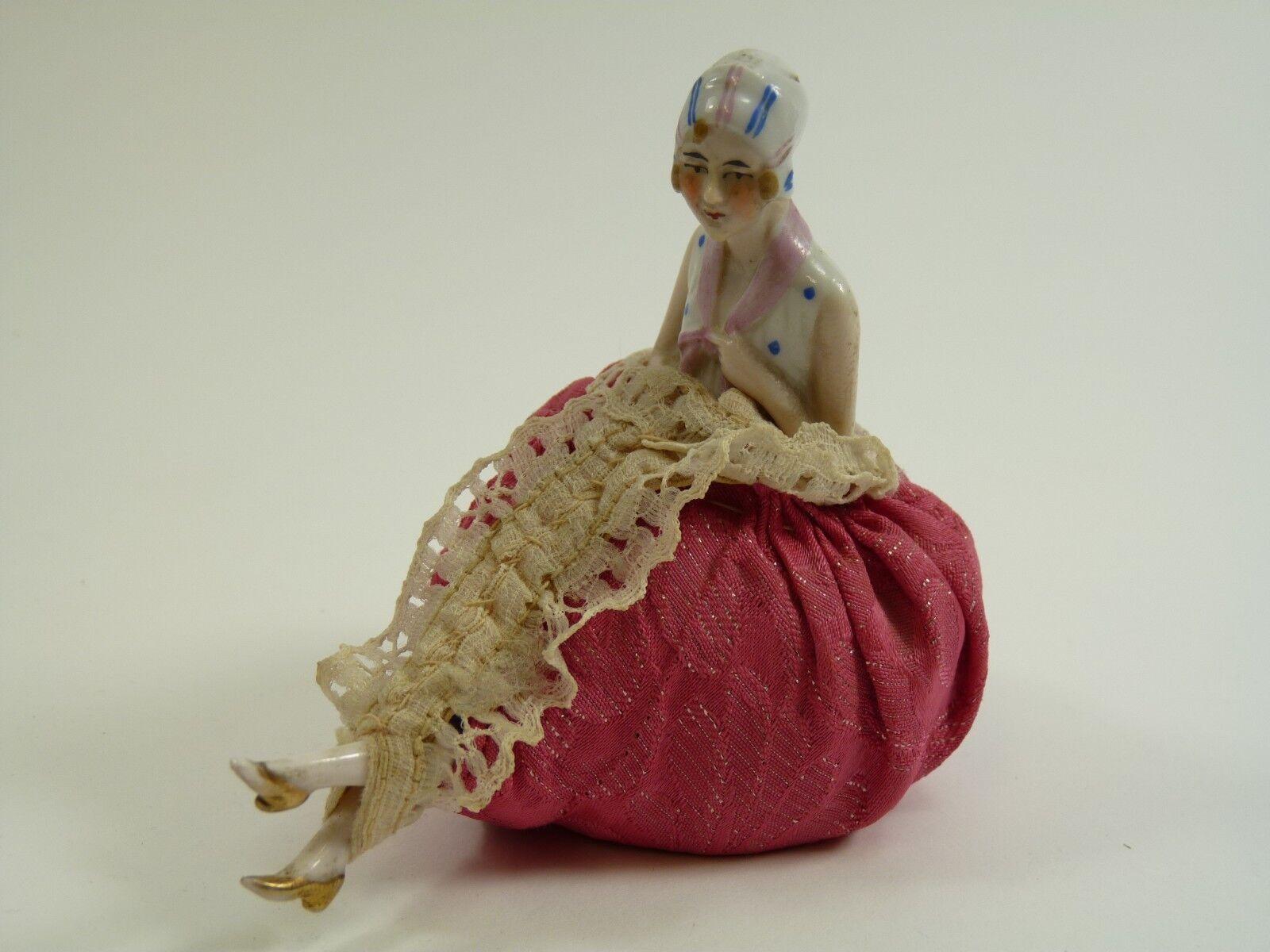 Ceramica tedesca-vintage anni 1930 ART DECO META 'con gambe di bambola-piccole dimensioni