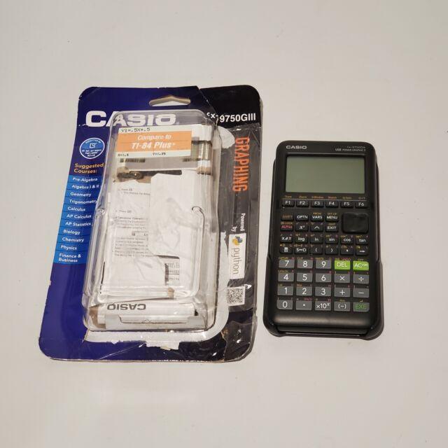 Casio FX-9750GIII Graphing Calculator - Black New Open Box