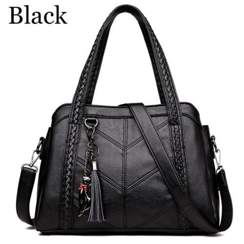 Large Capacity PU Leather Totes Crossbody Bags Women/'s Shoulder Bag Handbag